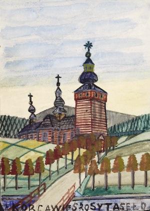 Nikifor KRYNICKI (1895-1968), Kościół wśród pól
