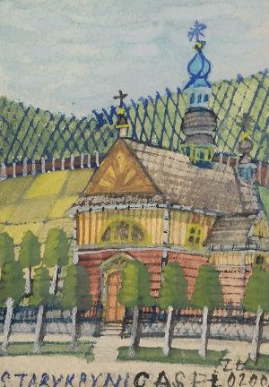 Nikifor KRYNICKI (1895-1968), Kościół w Krynicy
