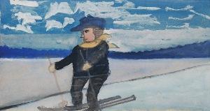 Nikifor KRYNICKI (1895-1968), Narciarz