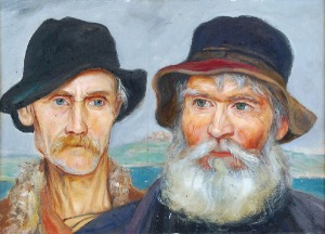 Wlastimil HOFMAN (1881-1970), Portret dwóch mężczyzn