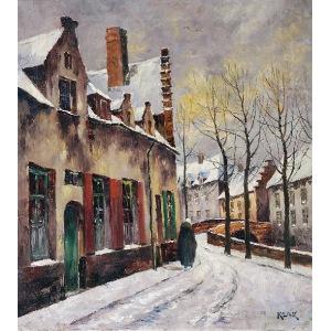 Artur KLAR (1895-1942), Miasteczko zimą