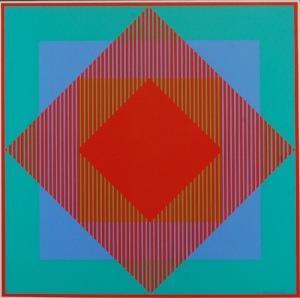 Richard ANUSZKIEWICZ (ur. 1930), Kompozycja abstrakcyjna