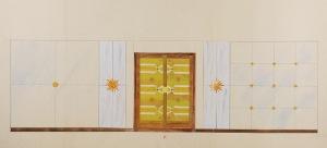Tadeusz GRONOWSKI (1894-1990), Projekt wnętrza I, 1962