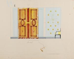 Tadeusz GRONOWSKI (1894-1990), Trzy  projekty wnętrza opery - W1, 1962