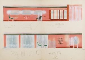Tadeusz GRONOWSKI (1894-1990), Projekt wnętrza V, 1985