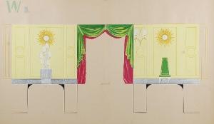 Tadeusz GRONOWSKI (1894-1990), Trzy projekty wnętrza - W3, 1962