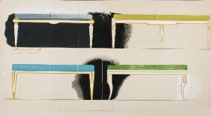 Tadeusz GRONOWSKI (1894-1990), Dwa projekty mebli, 1962