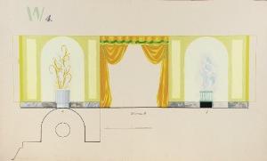 Tadeusz GRONOWSKI (1894-1990), Trzy  projekty wnętrza - W4, 1962