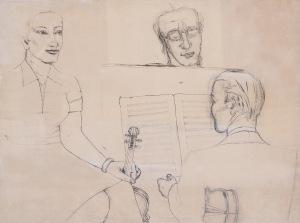 Jerzy Nowosielski (1913-2011), KONCERT, 1954 r.