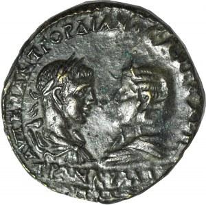 Cesarstwo Rzymskie, monety prowincjonalne, Miasto Messebria w Tracji, Gordian III (August 238-244 ne) i Trankwilina (żona Gordiana III), 5 Assaria