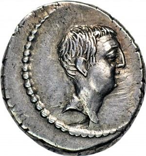 Republika Rzymska - okres wojen domowych, L. Livineius Regulus (42 pne), Denar