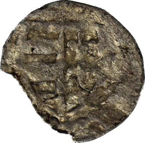RRR-, Ludwik Węgierski(Andegaweński) 1370-1382, Denar, Poznań, Tarcza/ skrzyżowane klucze, R7