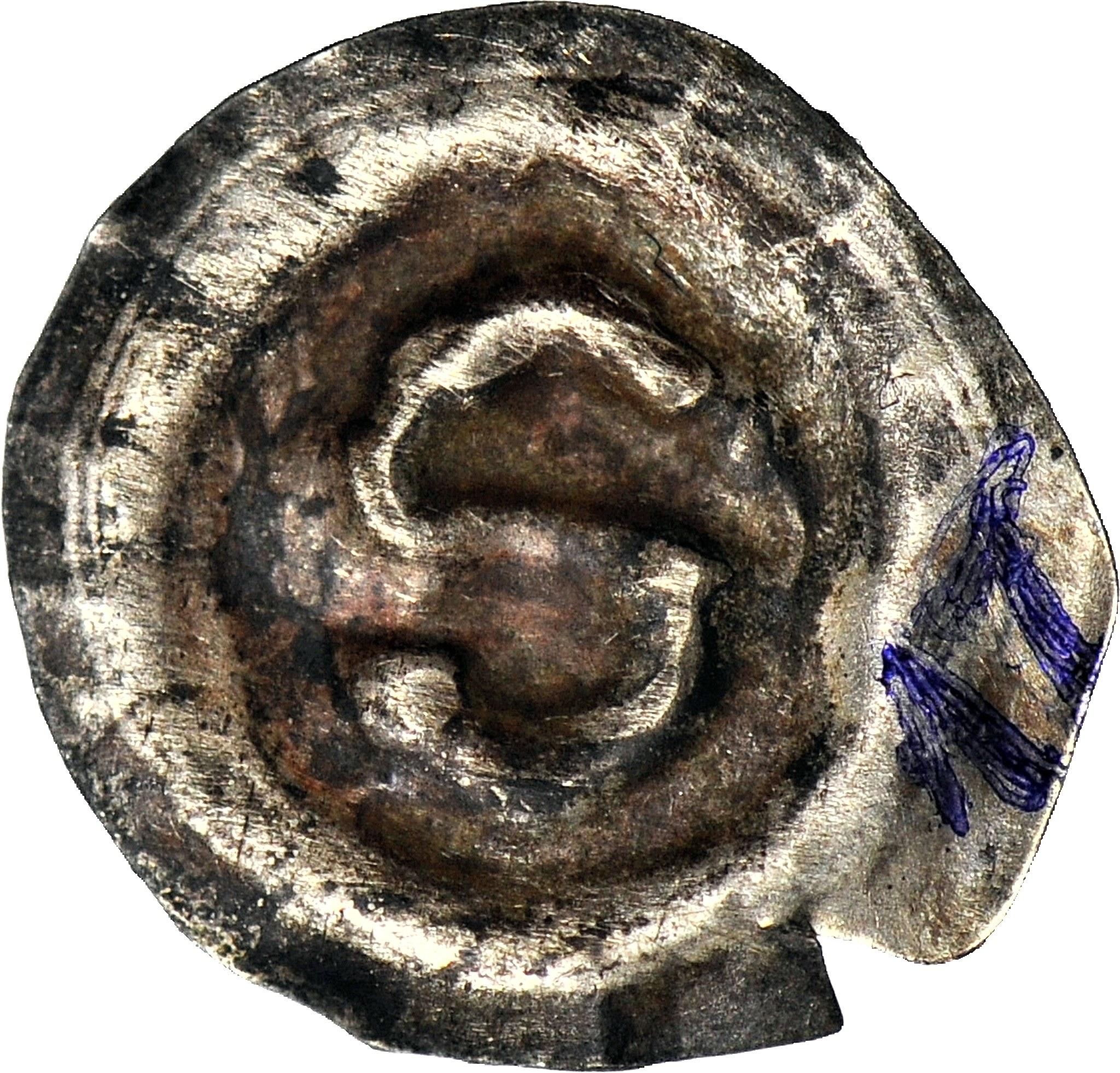 RR-, Siemowit III 1359-1381 lub Siemowit IV 1381-1426, Brakteat, Mazowsze - Płock lub Kujawy