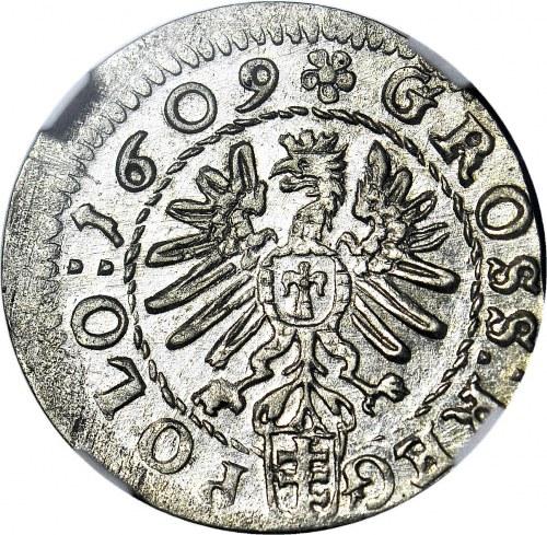 Zygmunt III Waza, Grosz 1609 Kraków, menniczy