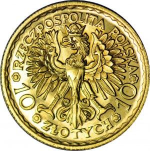 R*-, 10 złotych 1925, Bolesław Chrobry, PRÓBA w złocie, stempel głęboki, UNIKAT