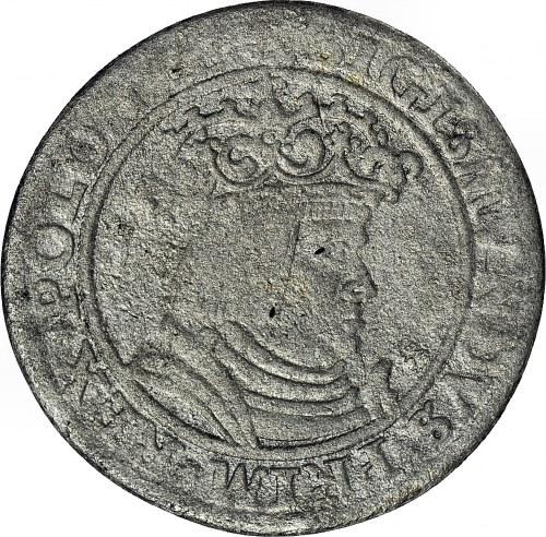 RRR-, Zygmunt I Stary, Pierwszy Polski Trojak 1528, Kraków, głowa heraldycznie w lewo, T50mk., R7