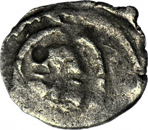RRR-, Koszalin, Obol? XIV-XVw., Głowa św. Jana, R4