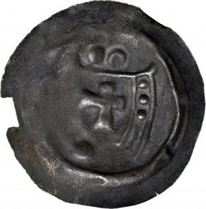 RR- Zakon Krzyżacki, Brakteat 1236-1248, Toruń, Ramię z proporcem, 2 kule