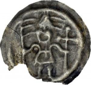RRR-, Zakon Krzyżacki, Brakteat 1247-1258, Rycerz bez tarczy