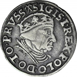 RR-, Zygmunt I Stary, Trojak 1539 Gdańsk