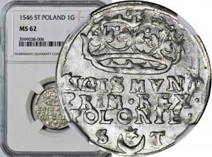 Zygmunt I Stary, Grosz 1546, Kraków, WYŚMIENITY