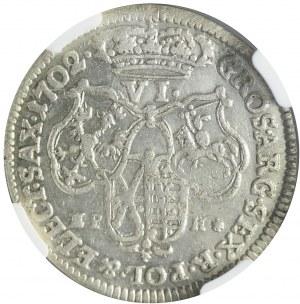 August II Mocny, Szóstak 1702, Lipsk, ładny