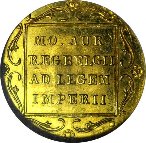 Powstanie Listopadowe, Dukat 1831, kropka przed pochodznią, menniczy
