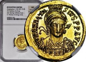 ANASTAZJUSZ (cesarz bizantyjski 491-518 ne.) Solid b.d. CONOB, menniczy