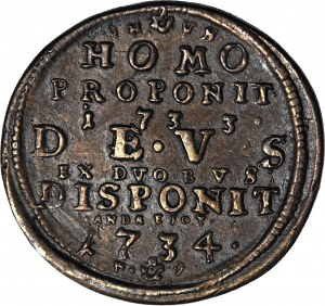 RR-, Stanisław Leszczyński, medal 1734, rzadki
