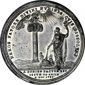 RR-, August III Medal na pokój drezdeński 1745