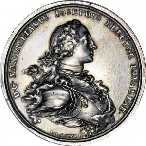 RR-, August III Sas, Medal 1747, na ślub córki Marii Anny, największy