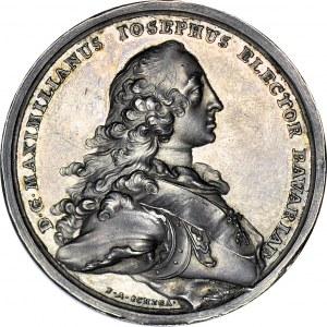 R-, August III Sas, Medal 1747, na ślub córki Marii Anny
