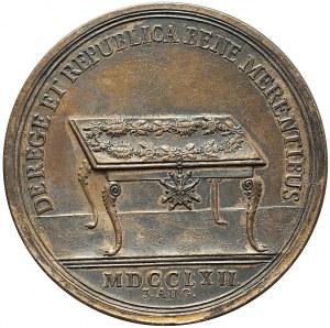 RR-, August III Sas, Medal na ustanowienie Orderu Orła Białego 1762, miedź, bardzo rzadki