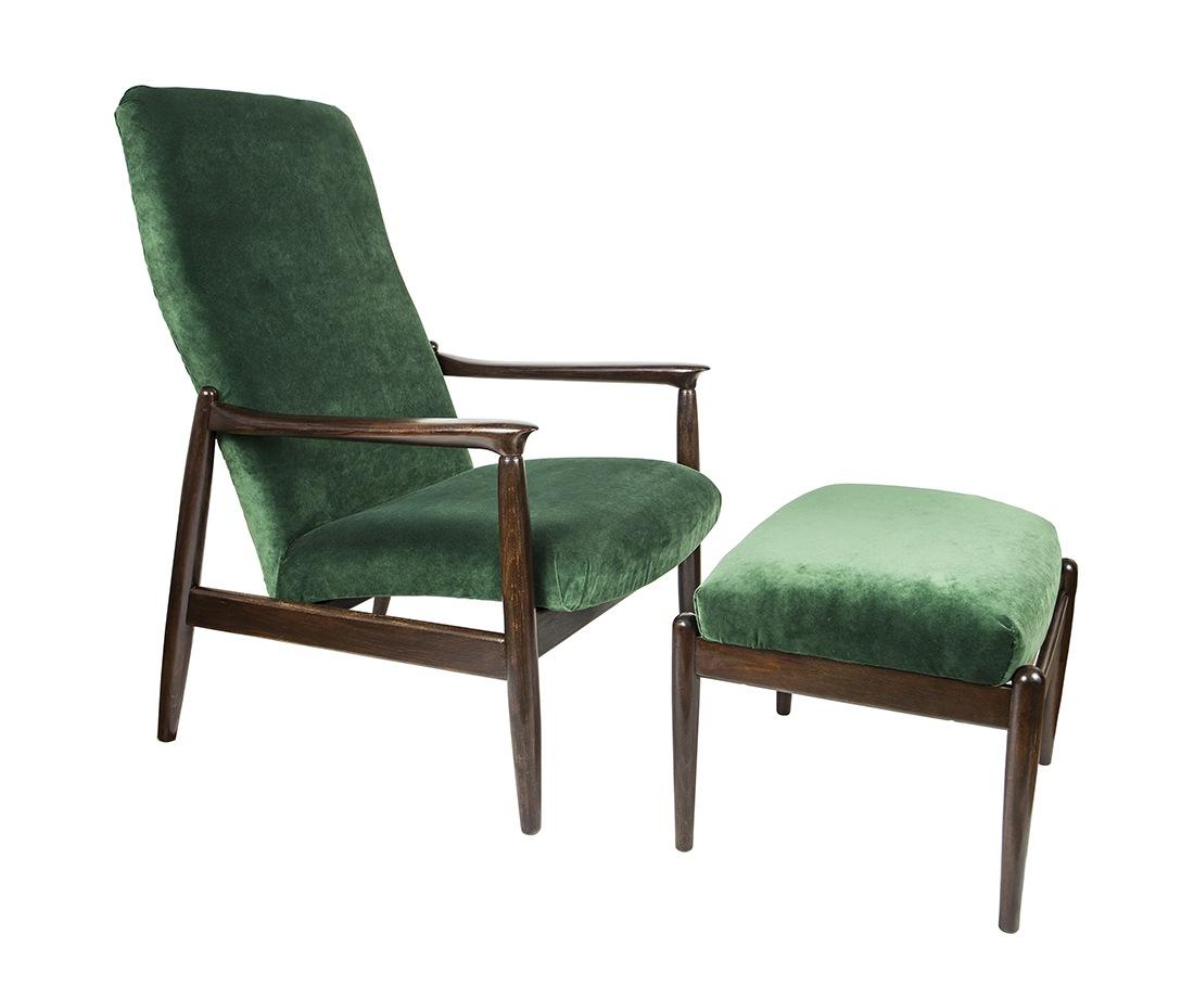 Fotel z podnóżkiem proj. E. Homa (GFM-64, nr 300-188)