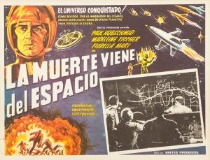 Plakat filmowy La Muerte Viene del Espacio
