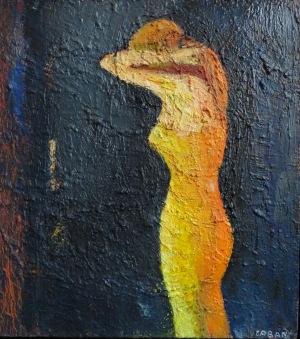 Caban Jolanta (1962), Dziewczyna w żółcieniach, 2012