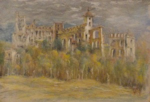 Filipowicz Antoni (1942), Ruiny Zamku w Tenczynie 2014