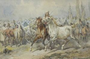 Kossak Juliusz, JARMARK NA KONIE W KRAKOWSKIEM, 1882