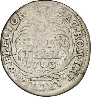 August II Mocny, 1/12 talara Lipsk 1703