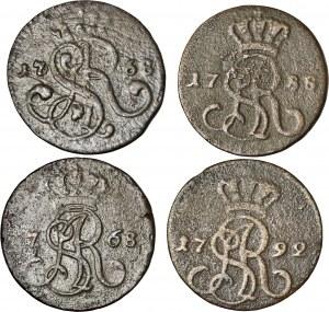 Stanisław August Poniatowski, zestaw 4 monet
