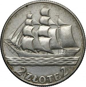 II RP, 2 zł 1936, Żaglowiec, Ag 750