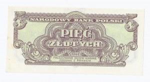 banknot 5 zł 1944, obowiązkowe