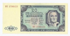 banknot 20 zł 1948, Polska