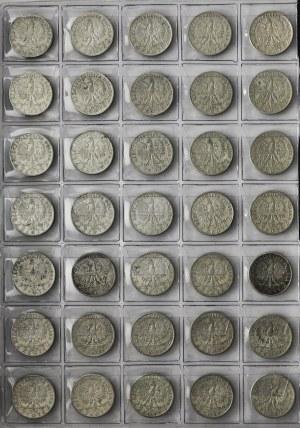 II RP, zestaw 163 srebrnych monet