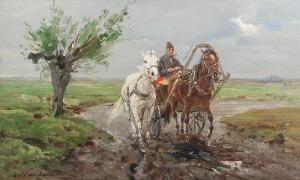 Czesław WASILEWSKI (ok. 1875-1946/47), Zaprzęg, ok. 1930