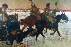 Wojciech KOSSAK (1856 -1942), Bitwa pod Berezyną - fragment panoramy