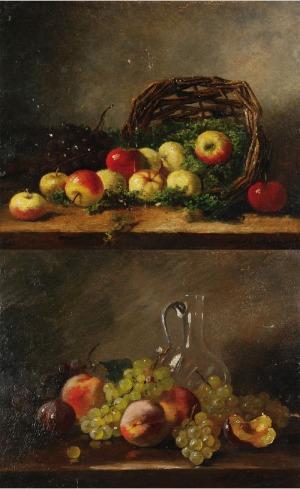 Alfred Arthur BRUNEL DE NEUVILLE (1852-1941), Martwa natura - para obrazów