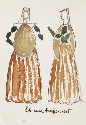 Otto AXER (1906-1983), Projekty kostiumów - 4 prace