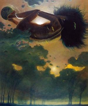Zdzisław BEKSIŃSKI (1929-2005), Noc [tytuł umowny] - Kompozycja, 1976