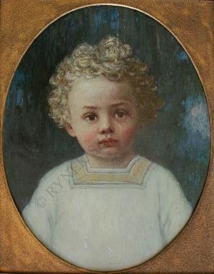 Heinrich Rudolf Armbruster(1862-po 1914), Portret dziecka[Heinz Berghoefer w wieku 4 lat] (1914)